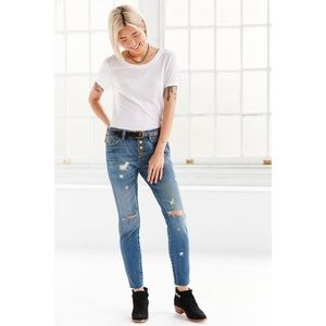 BDG Slim Boyfriend Jean Button Fly Indigo Slash